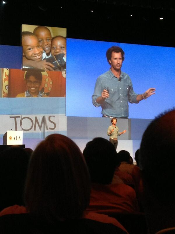 How can we apply *one for one* in architecture & design? @TOMS @AIANational #aia2013 #community pic.twitter.com/ZrYkCkTrVK