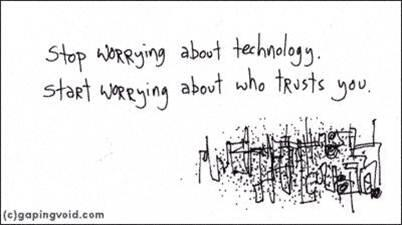 ♺ @ThisMuchWeKnow @elsua @orgnet @cmswire @gapingvoid is right (again) pic.twitter.com/AFTabNZOCk / As usual! #socbizchat