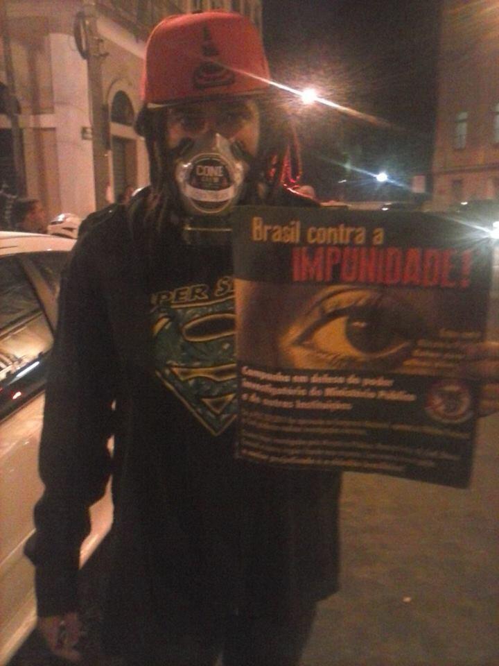 Cone Crew Diretoria registra Batoré nos protestos