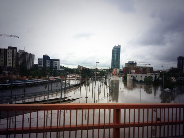 RT @KelseyTWN Photo taken from the 5th ave flyover out of downtown, looking at the LRT tracks. pic.twitter.com/hP0pUyzqbp #yycflood