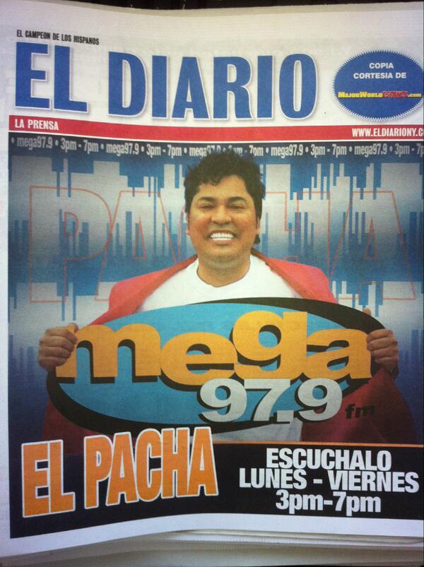 Major World Espanol On Twitter No Se Pierda El Pacha 3 7 P M En La Mega 97 9 Fm Http T Co Tyits6oysk