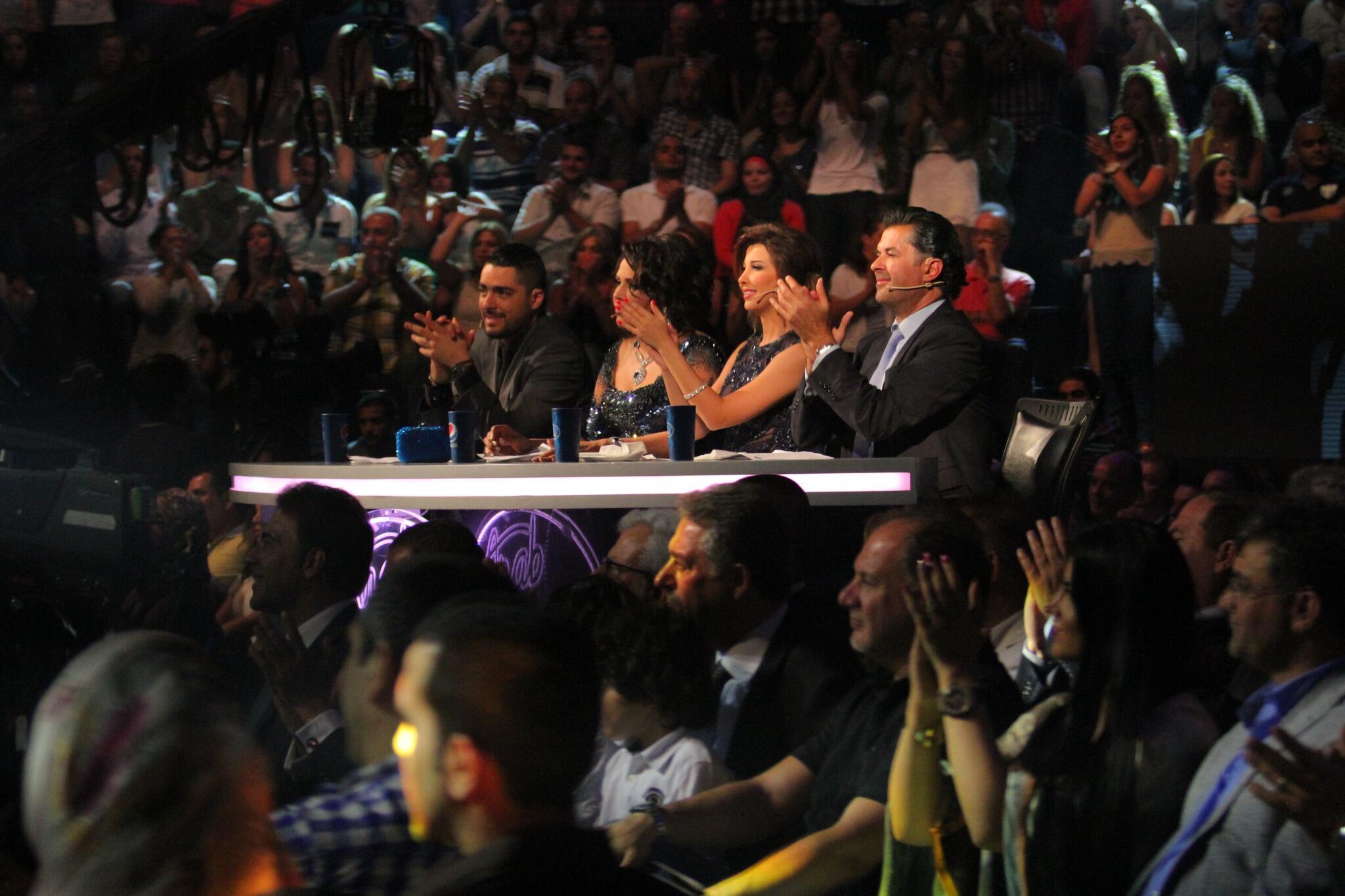 صور لجنة التحكيم بالحلقة 27 من برنامج Arab Idol 2