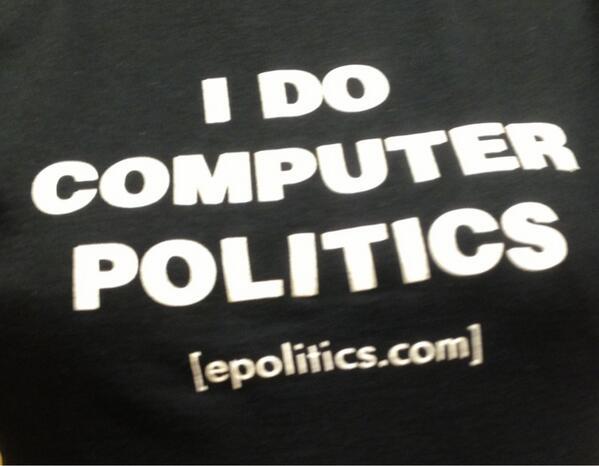 Epolitics.com I Do Computer Politics T-shirt