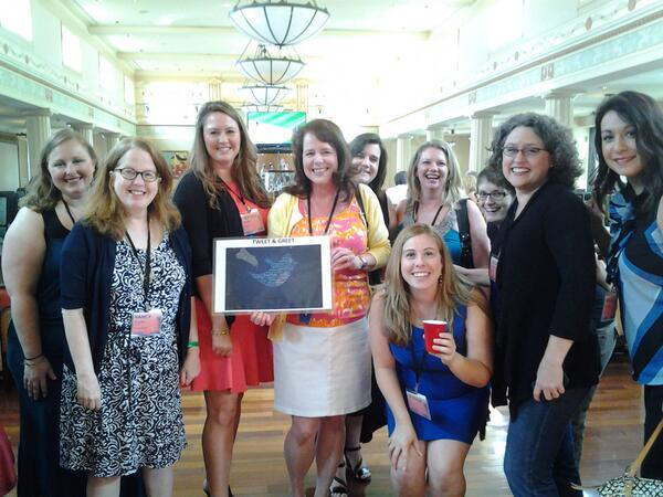 "The ""Tweet-and-Greet' (2nd ever) at #hns2013 w/ @msheatherwebb @WritingRen  @Tudorscribe @AmandaVOrr and Meg http://pic.twitter.com/mbNgnGwj4X"