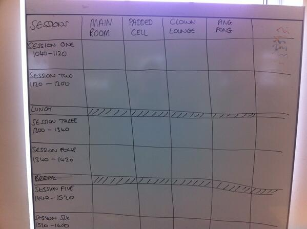 The unconference agenda is ready to be set! #thebigyak pic.twitter.com/UBDvjsxBCc