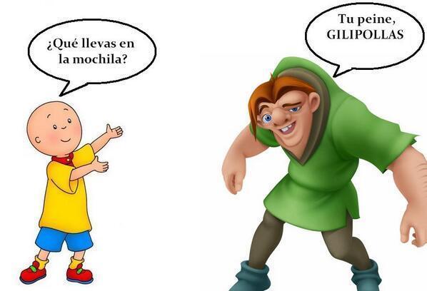 """Lo Mejor De Twitland On Twitter: """"Caillou VS Jorobado"""