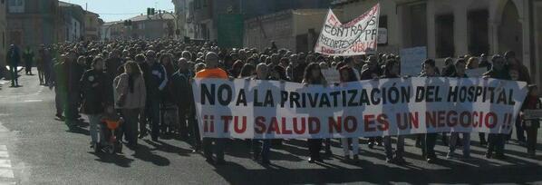 hospital Villarrobledo, protesta, movilización, Albacete