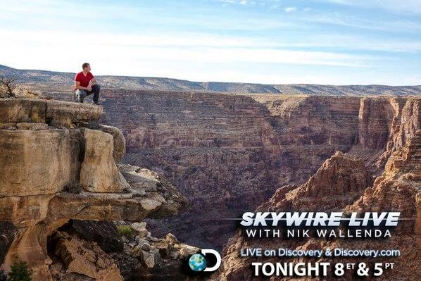 RT if you're watching #Skywire Live with @NikWallenda