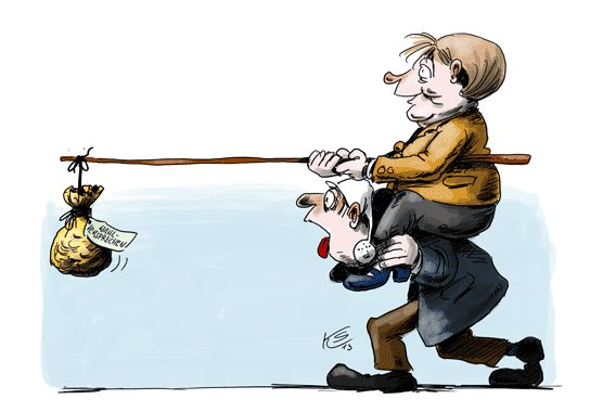 Peitsche karikatur und zuckerbrot Bismarck Bündnissystem