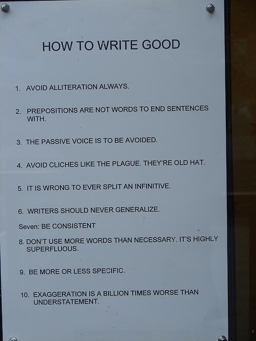 How to write good ... http://t.co/xdmjT1KINL
