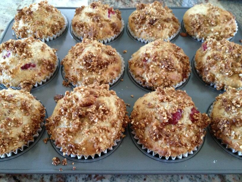 Twitter / LorineMS: Raspberry muffins are ready! ...