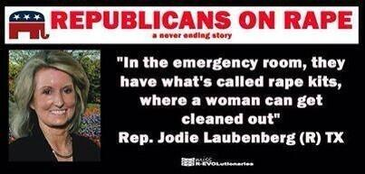 #JodieLaubenberg ANOTHER rape gaffe. What the hell is wrong with Republicans? #sb5 #texlege http://pic.twitter.com/bdoMxOdcYG