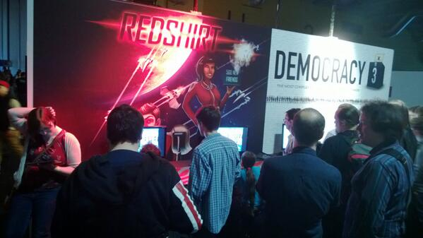 Redshirt booth at Rezzed! I love that this shows @lingmops playing the iPad version, figuring out her next move! :D pic.twitter.com/LwBCKN4vw7
