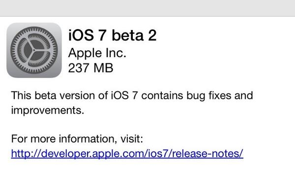 Apple lanza la nueva beta de iOS 7
