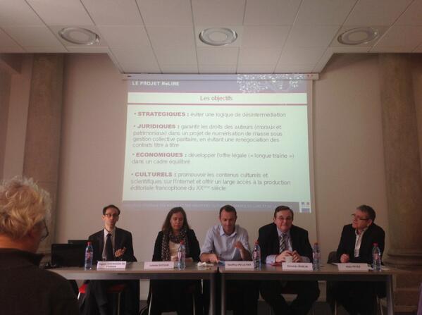 Les objectifs stratégiques, juridiques, économiques, culturels du projet #ReLIRE #cogitation19 #arl #Rouen pic.twitter.com/OZtbmXj8SP
