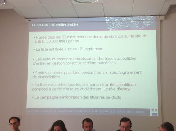 La liste des titres est stable pour une durée de 6 mois #ReLIRE #cogitation19 #arl #Rouen pic.twitter.com/AL3ukkXjGH