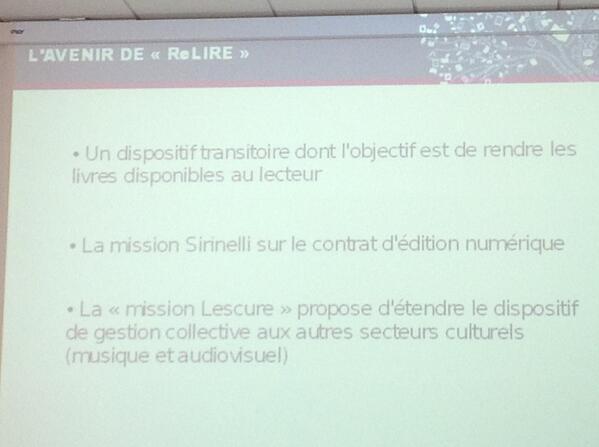 L'avenir de Relire, une extension à d'autres domaines ? #ReLIRE #cogitation19 #arl #Rouen pic.twitter.com/SEurbc9Bnw