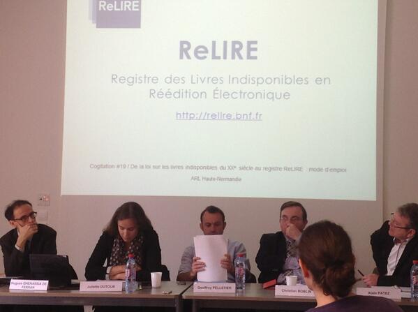 Juliette Dutour est chef du projet Registre des livres indisponibles du XXe siècle, à la BnF.#ReLIRE #cogitation19 pic.twitter.com/TMdknf2afi