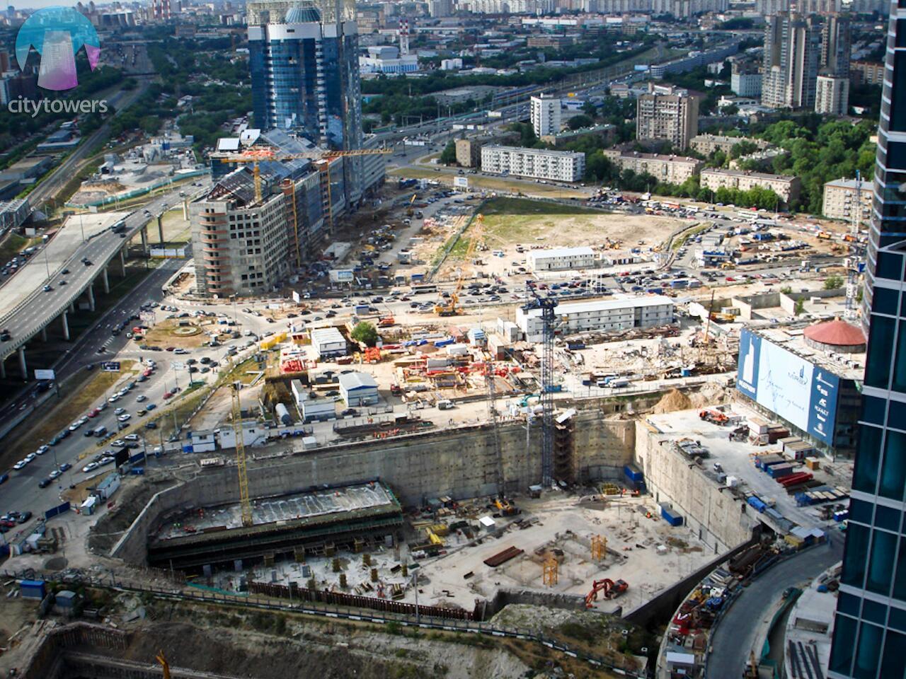 москва сити начало строительства фото официальной