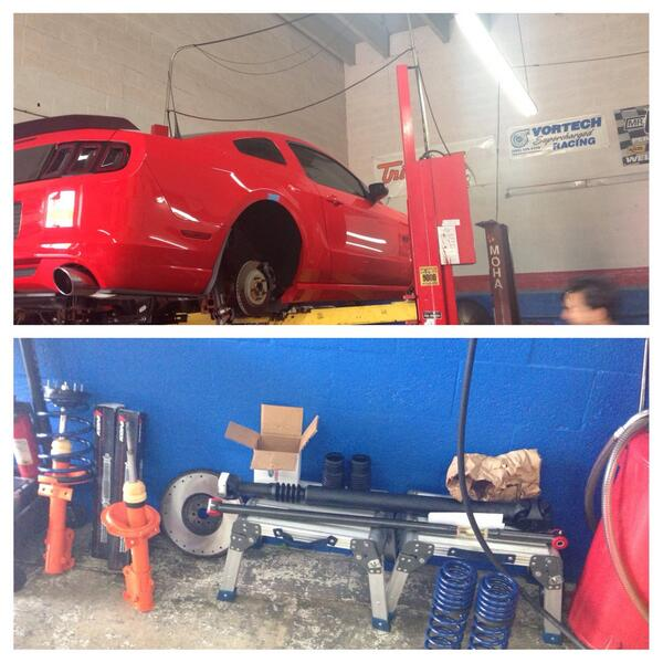 2013gt doing some suspension upgrades. #mustanggt #AmericanMuscle #makperformance #mak
