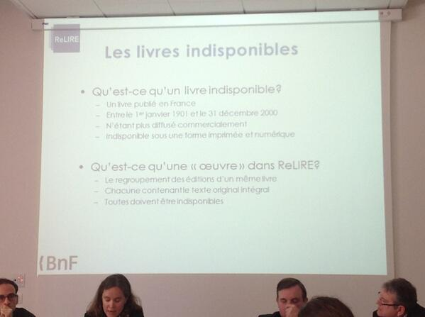 Les livres indisponibles d'après la #BNF  #ReLIRE. #cogitation19 #arl #Rouen pic.twitter.com/BAsIUBHzh6