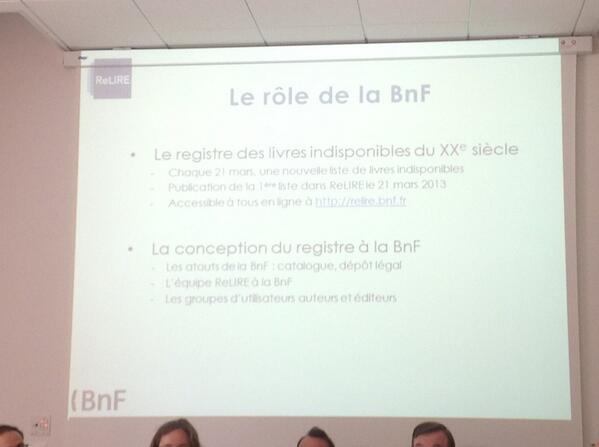 la coordination scientifique et du suivi fonctionnel du registre #BNF  #ReLIRE. #cogitation19 #arl #Rouen pic.twitter.com/686thjUGLb