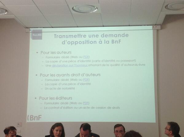 Transmettre une demande d'opposition à la #BNF  #ReLIRE #cogitation19 #arl #Rouen pic.twitter.com/RAd8iJfUwH