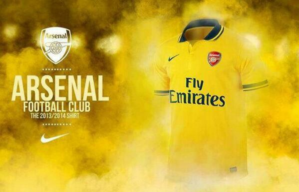 Leaked Picture! Arsenals brand new 2013 14 away kit is revealed