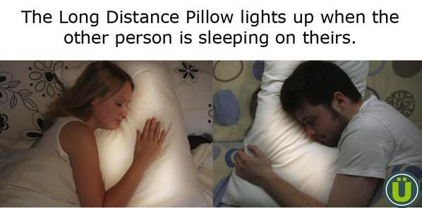 Uberfacts On Twitter The Long Distance Pillow Lights Up When The