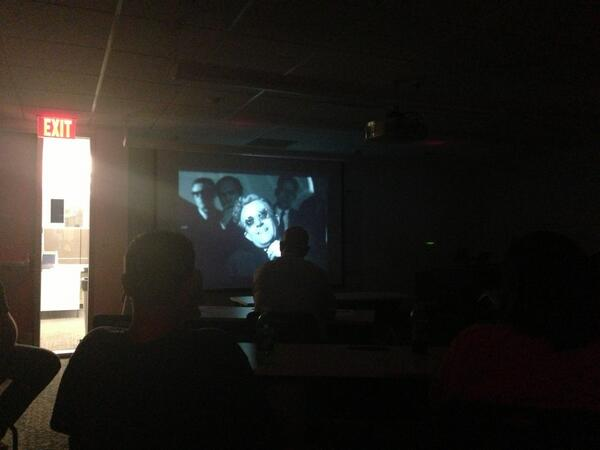 #GLIUT2013 movie night with Dr. Strangelove #UTAustin #nofightinginthewarroom pic.twitter.com/G262rlTBrL