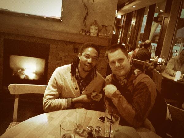 Fireside chats with @joelddixon & @mathewh, still waiting on that @ErdingerWB, my friends. pic.twitter.com/cH84Le2oX6