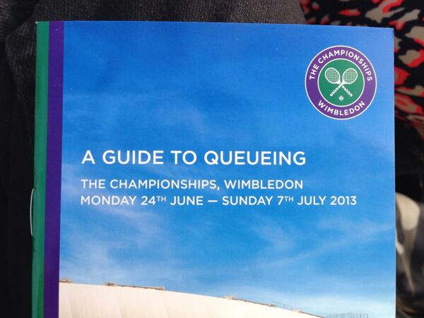 @XanBrooks Most superfluous info ever disseminated? Teaching Brits how to queue... #wimbledon2013 http://t.co/T8jaF40KWX