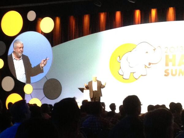 @merv rockin' the keynote on stage at #HadoopSummit! pic.twitter.com/z73KNsn9Sc