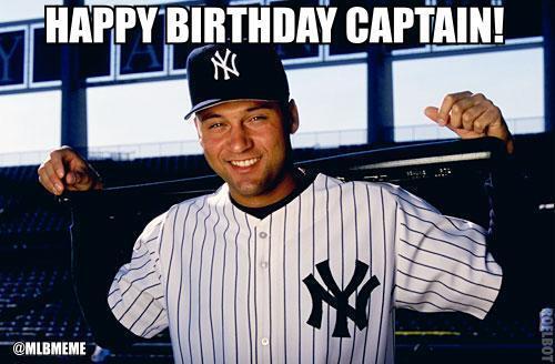 Mlb Memes On Twitter Retweet To Wish Yankees Captain Derek Jeter