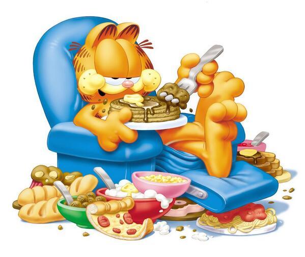 Frases De Garfield On Twitter Un Sillón Mi Amada Comida