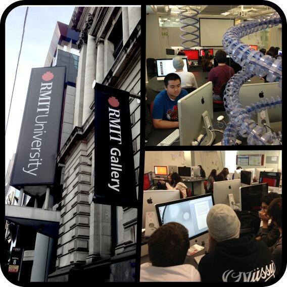 Year 10 students at the @rmit_csit Hollywood Taster enjoyed using cool computer lab. pic.twitter.com/KVaKKaMvky