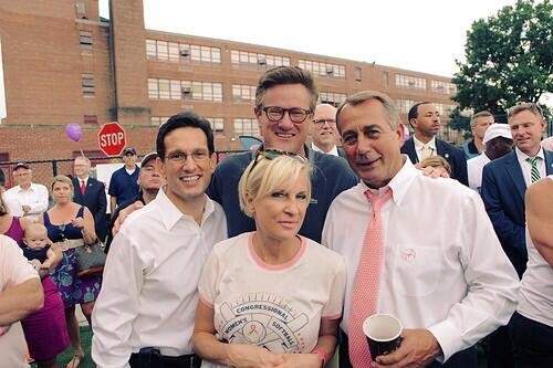 At yesterday's Congressional Women's Softball Game with @JoeNBC @GOPLeader @SpeakerBoehner pic.twitter.com/I7RmFZyHil