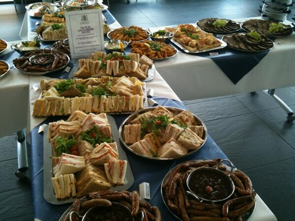 """When the break out sessions finish, this """"taste of Lincolnshire"""" buffet is waiting for the delegates! #SasPConf pic.twitter.com/UNzxVmSl9a"""