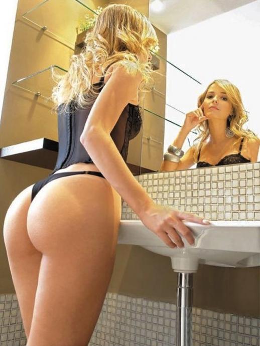 Thong on blonde  milf