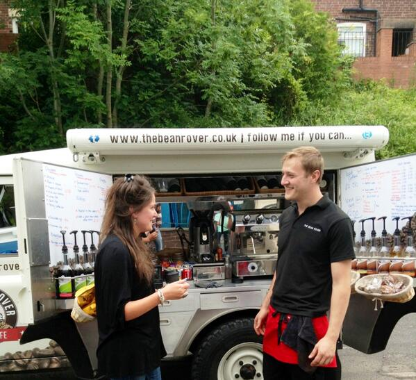 Our new favourite lunchtime treat - a visit from @TheBeanRover! Look out for him in Sheffield. #SheffieldIsSuper http://t.co/Kp7mheUGQW