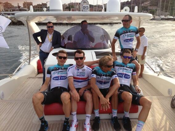 Relaxing sail to the start of the Tour de France Team Presentation with @opqscyclingteam. pic.twitter.com/hENkBWDw3V