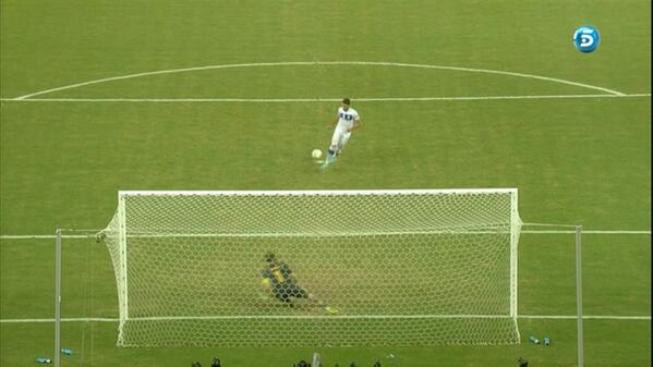 Balls of steel! Antonio Candreva scores a Panenka penalty with 1st shot of Spain Italy shoot out!