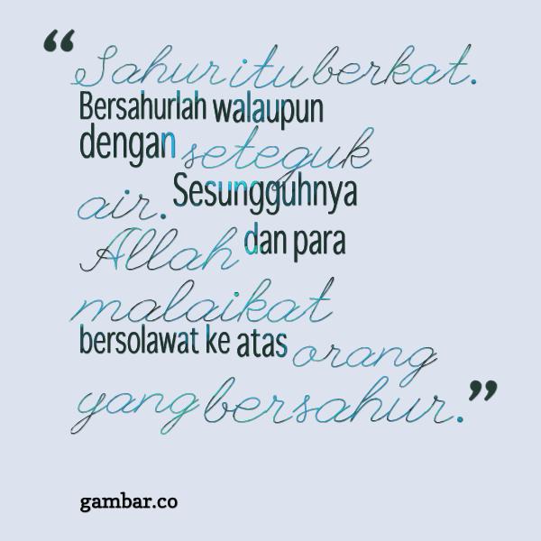 Tips Gaya Hidup On Twitter Kata Mutiara Sahur Gambarsahur