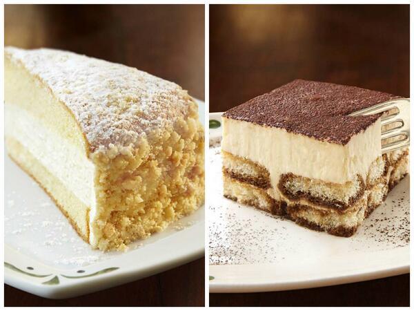 Olive Garden On Twitter Lemon Cream Cake Or Tiramisu Which One Sounds Good To You Http T Co W095bjekiq C0fyq37kir