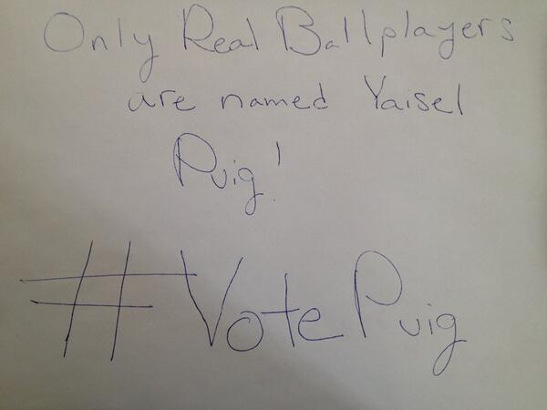 Everybody who does #VotePuig and tags me will get a S/O and RT! (Must be following) @Dodgers http://t.co/l9TJMJBjM7
