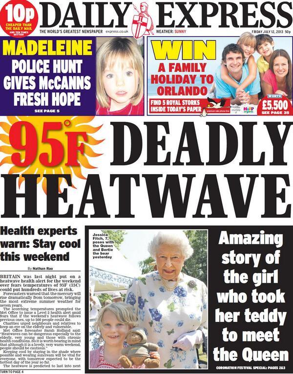 Police hunt gives McCanns fresh hope -  Daily Express tomorrow 12/7/13 BO69aHKCMAAW1Rm
