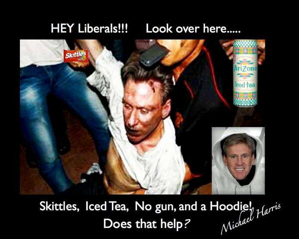 #Liberals! If Amb Stevens had skittles, tea, & a hoodie would u care about #Benghazi? #Zimmerman #ocra #tcot #OpSlam pic.twitter.com/mtBKFtmTTU