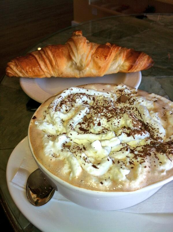 Mmm! 7 Spiced Hot Chocolate & croissant Cococo's! #26yrs #yegquest #yeg #foodies pic.twitter.com/dOgF30UyyH