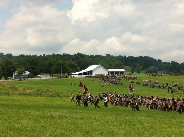 "She cries more more more ""@GArmasAP: A re-enacted Rebel Yell as Pickett's Charge gets under way for #Gburg150. pic.twitter.com/W66eoU4Vf6"""