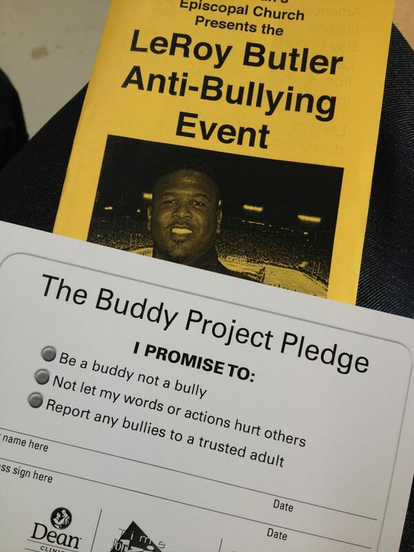 .@leap36 is here! We're taking the pledge to not be bullies. Will you? Come to St. Dunstan's Church. #BeABuddy pic.twitter.com/DFFBlB7sqY
